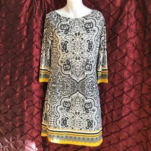 ☀️☀️ HAANI Charming Black, White & Yellow Dress ☀️